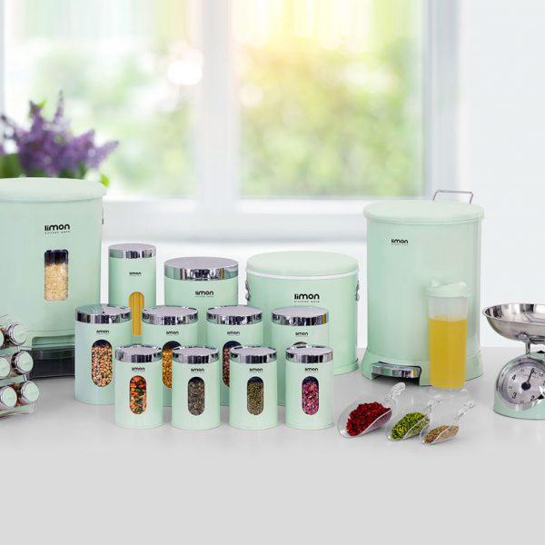 سرویس آشپزخانه 22 پارچه گرد لیمون کد 1272