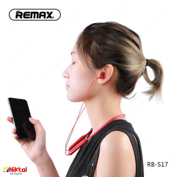 Remax Bluetooth Wireless Handsfree RB-S17 هندزفری گردنی