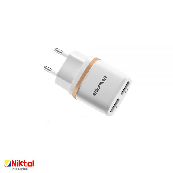 AWEI C -930 wall charger شارژر دوگانه اوی