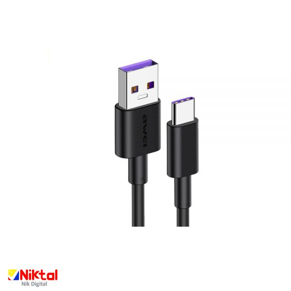 AWEI CL-77T Type-C Smart Fast 4A Charging Cable کابل شارژ هوشمند اوی