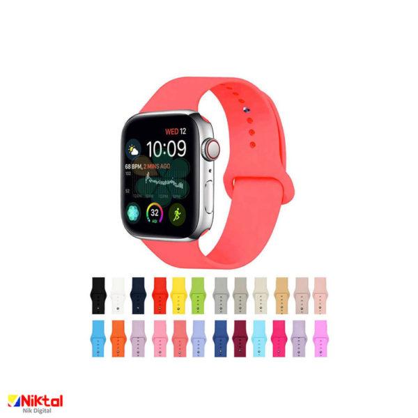 Apple Watch silicone strap بند اپل واچی
