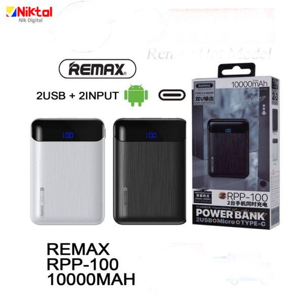REMAX RPP-100 10000mAh Power Bank پاوربانک ریمکس