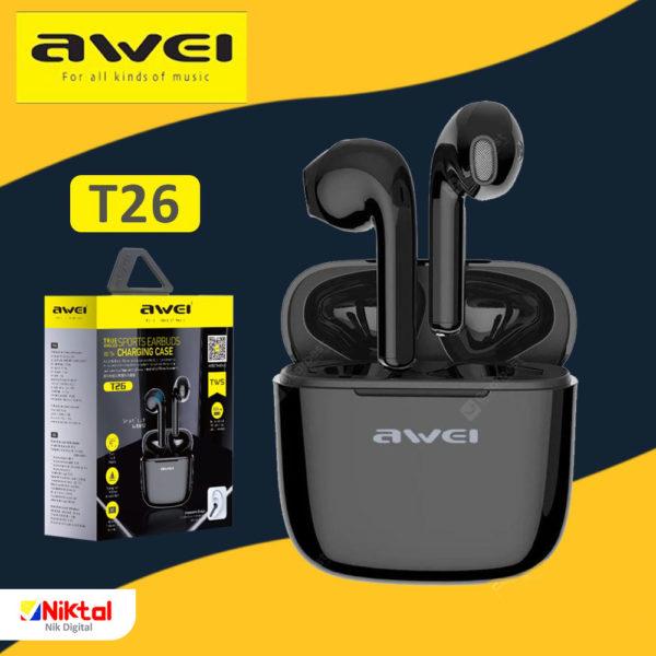 Awei T26 Bluetooth handsfree هندزفری اوی