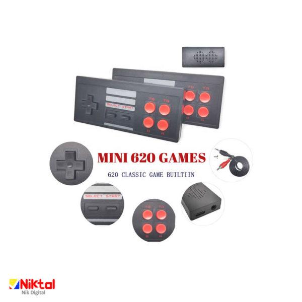 620 mini game classic کنسول بازی دو دسته