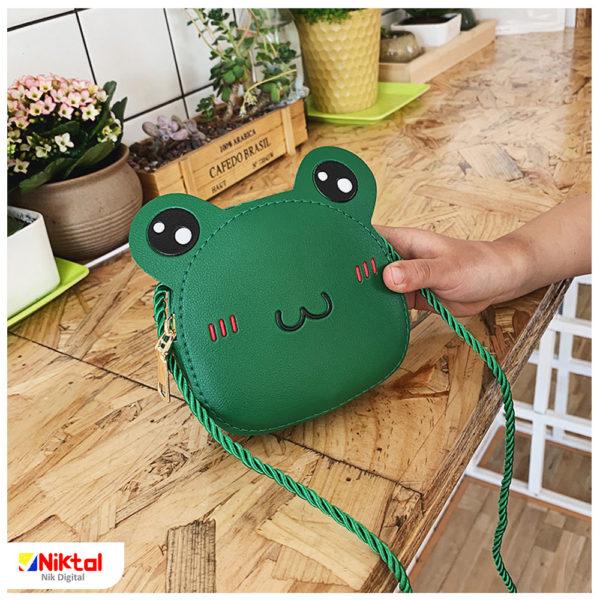 Frog design doll bag کیف عروسکی