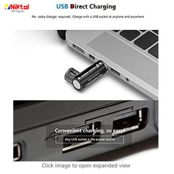 USB rechargeable battery باتری یو اس بی دار