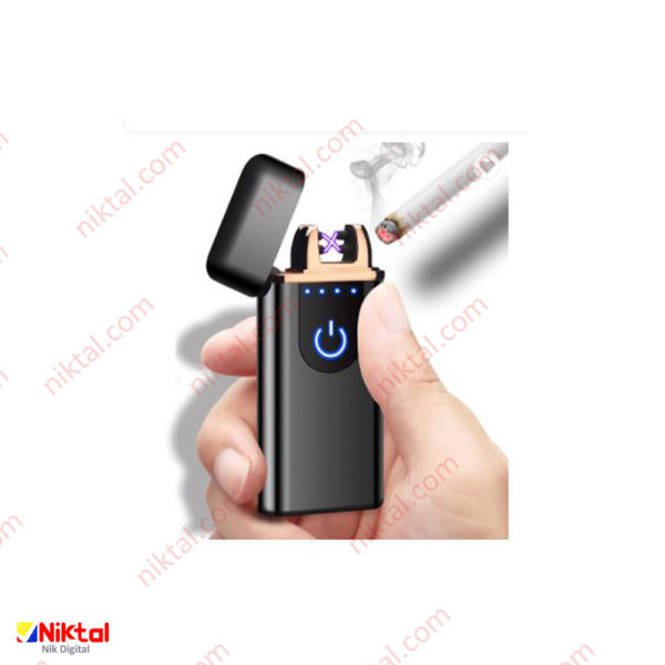 Electronic rechargeable lighter F158 فندک ضدباد