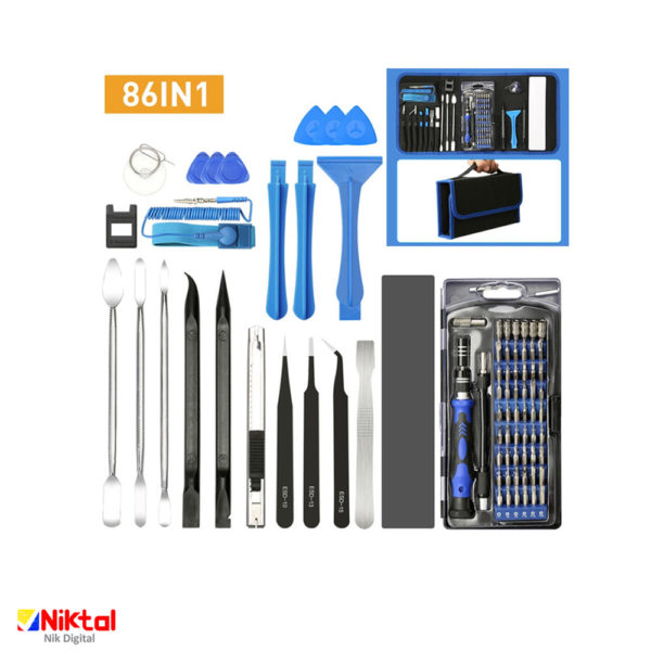 Complex meat set for repairing all kinds of electronics KS-8086 انواع ابزارآلات