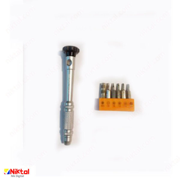 Magnetic screwdriver for electronic repairs, model KS-8867 پیچ گوشتی