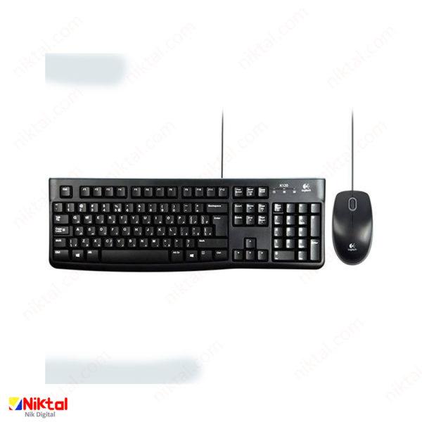 Logitech MK120 cable keyboard and mouse ست کیبورد و ماوس سیمی