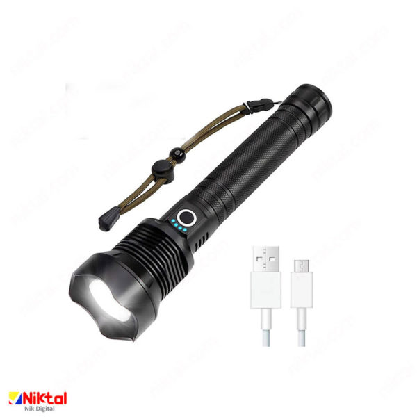 CHARMINER Rechargeable Tactical Flashlight چراغ قوه