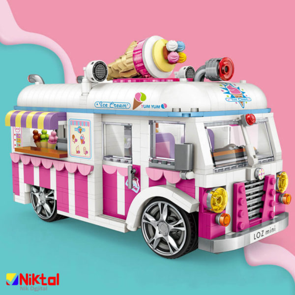 پازل ساختنی لوز طرح ماشین بستنی