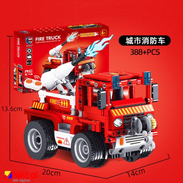 پازل ساختنی ماشین آتش نشانی کنترل دار