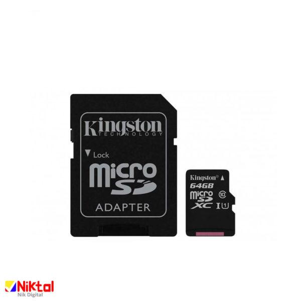کارت حافظه میکرو اس دی کینگستون 128GB