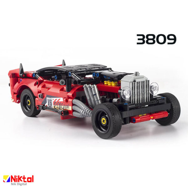 پازل ساختنی ماشین مسابقه دکول 3809