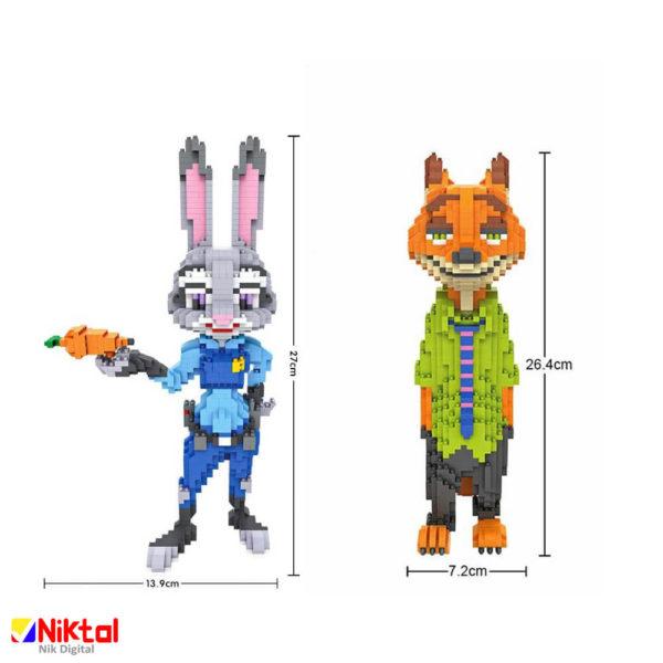 پازل ساختنی لوز روباه و خرگوش انیمیشن زوتوپیا مدل 9029 + 9030